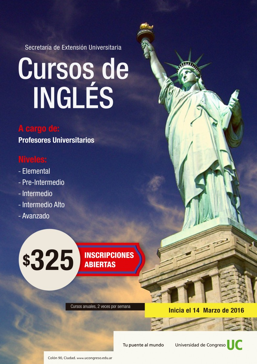 Afiche Ingles Extension  2016