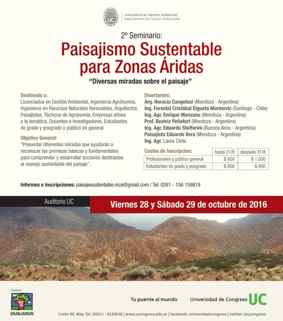II Seminario Paisajismo Sustentable 2016