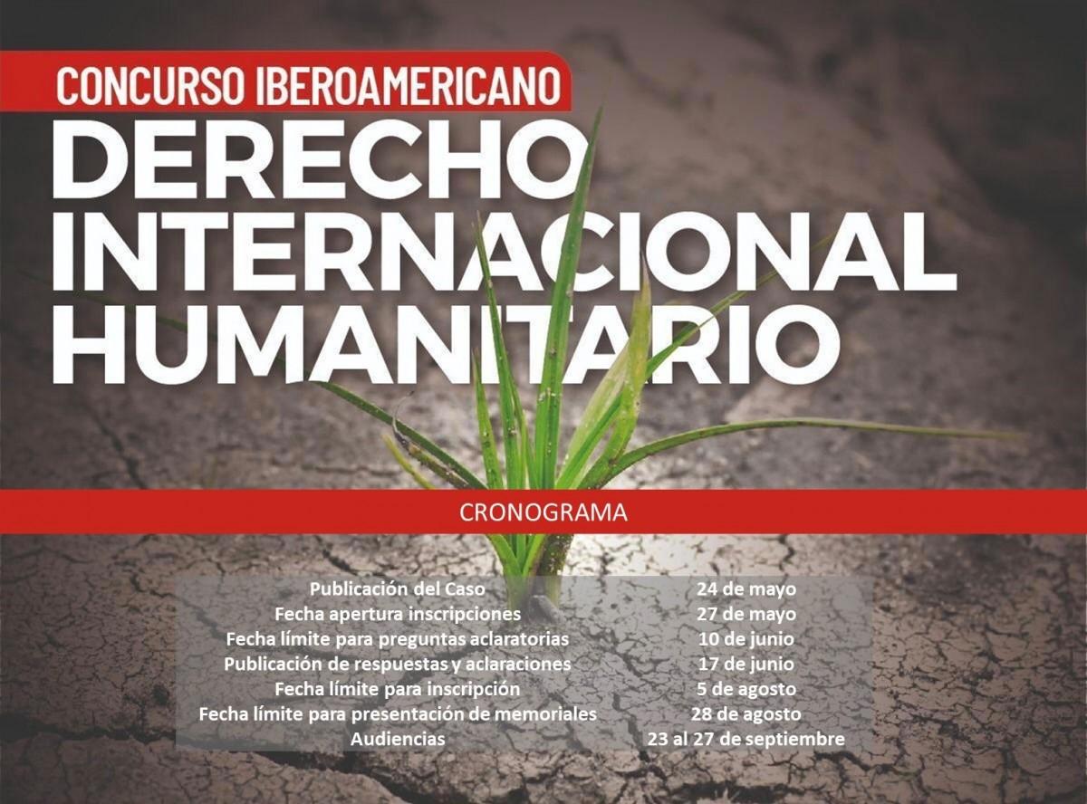 CRONOGRAMA PRIMER CONCURSO IBEROAMERICANO DE DIH